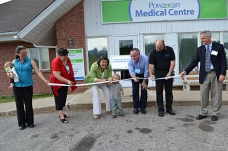 Ribbon cutting ceremony for the Powassan Medical Centre